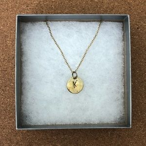 "Letter ""K"" Gold Necklace"